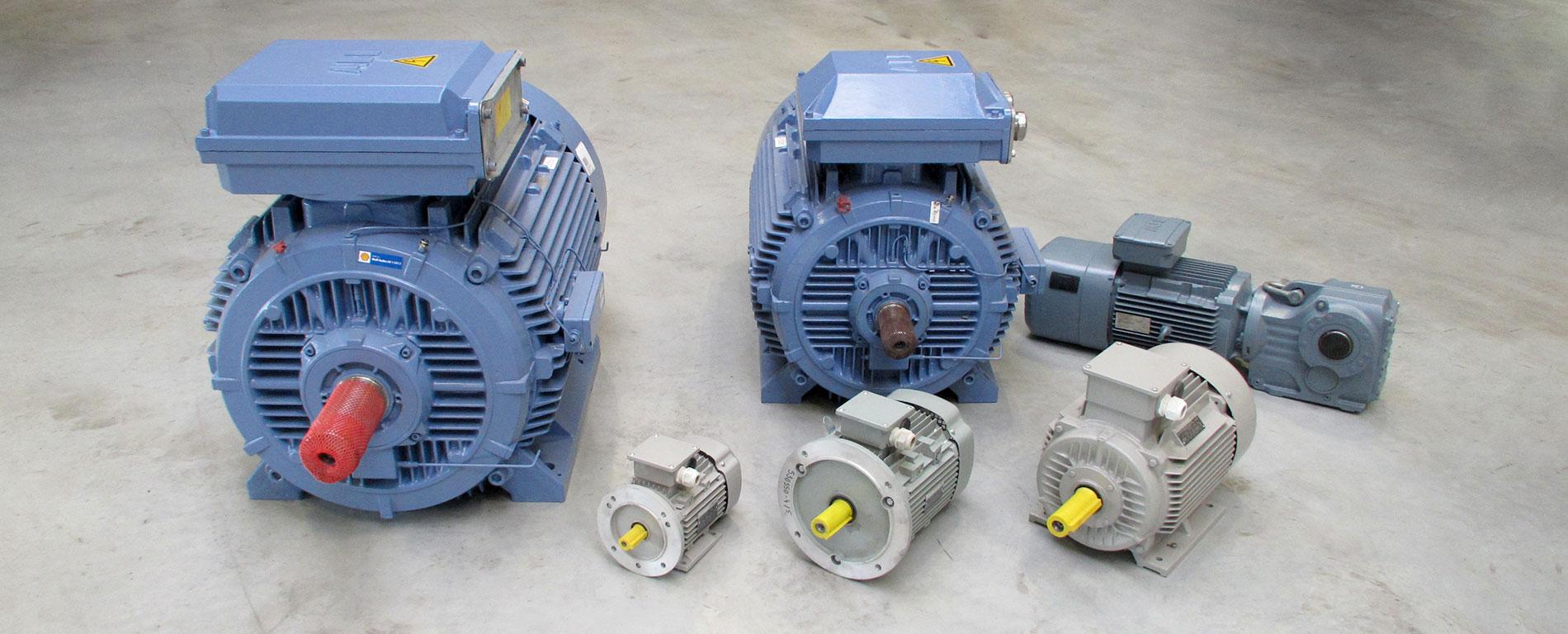 Elektromotoren in verschiedenen Größen