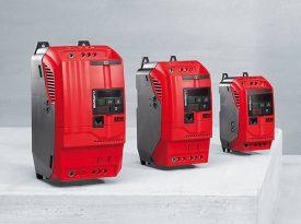 Rote Umrichter in verschiedenen Größen