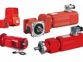 Verschiedene rote Servoantriebe